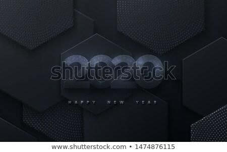 2020 modern calendar design with hexagonal geometric shapes Stock photo © SArts