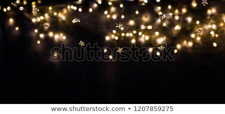 Noel tebrik kartı çalar saat noel uzay Stok fotoğraf © karandaev