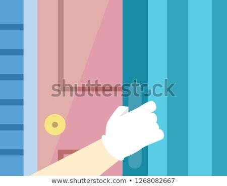 Huragan drzwi migawka ilustracja strony Zdjęcia stock © lenm