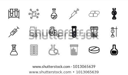 tıp · küçük · şişe · şırınga · ikon · botox · el - stok fotoğraf © pikepicture