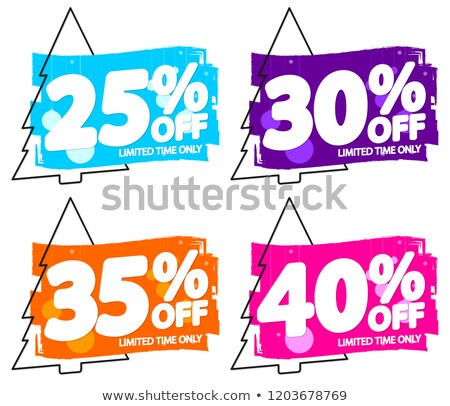 Christmas verkoop 25 procent af kerstmis Stockfoto © robuart