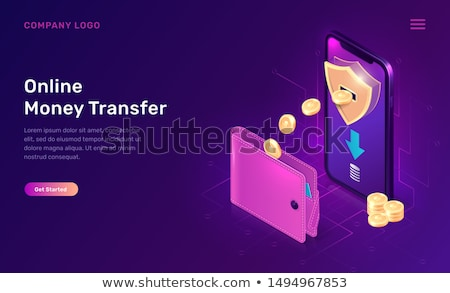 Cash back concept landing page. Stock photo © RAStudio