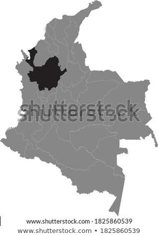 Colombia vidék térkép egyszerű fekete sziluett Stock fotó © evgeny89