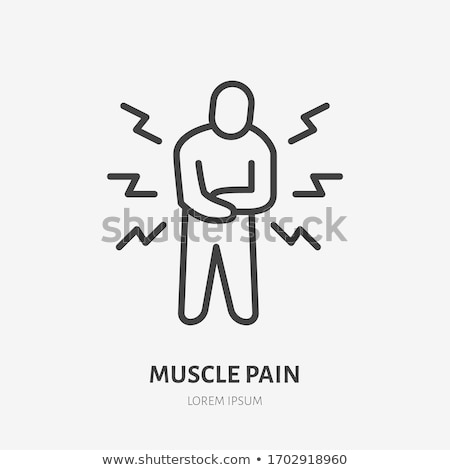 Stomach Pain Icon Vector Outline Illustration Stok fotoğraf © Nadiinko