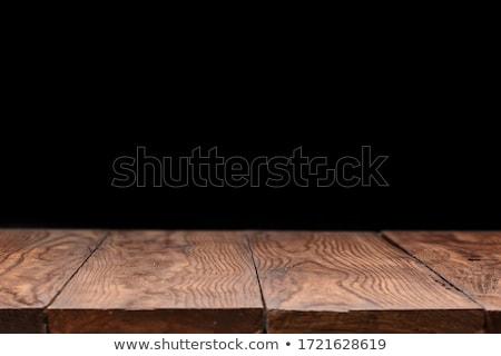 Retro houten tafel zwarte kan gebruikt display Stockfoto © artjazz