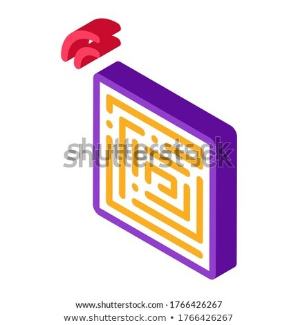 Disposable Anti-Theft Stickers isometric icon vector illustration Stock photo © pikepicture