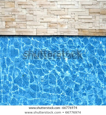 Modern Brick Pavement With Pool Edge Background Stok fotoğraf © vichie81