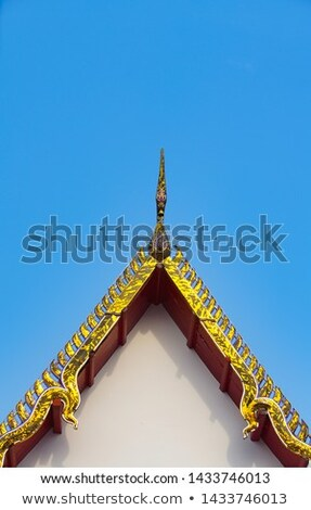 керамической · крыши · тайский · храма · Таиланд · строительство - Сток-фото © smithore