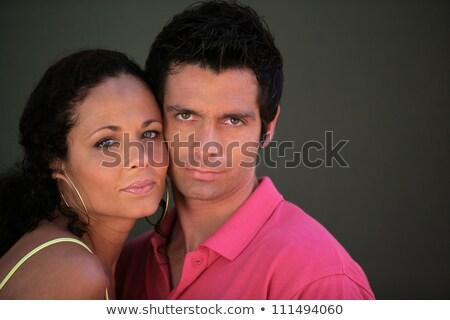 fiatal · csinos · nő · élvezi · férfi · megérint · hátulnézet - stock fotó © photography33