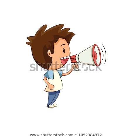 Little child speaking in to megaphone Stock photo © photography33