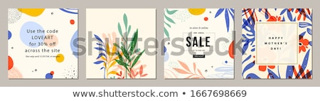 card with abstract flowers stock photo © adamson