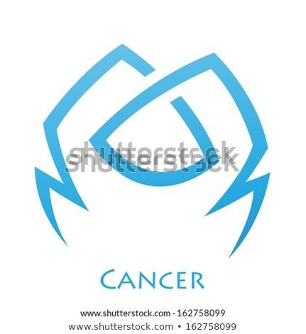 simplistic cancer zodiac star sign stock photo © cidepix