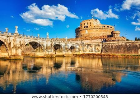 Engel kasteel beroemd brug rivier Stockfoto © sailorr