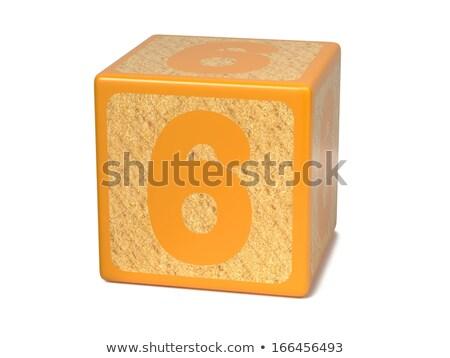 mektup · d · alfabe · turuncu · ahşap · yalıtılmış · beyaz - stok fotoğraf © tashatuvango