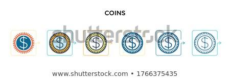 pénz · érmék · számlák · tekert · felfelé · föld - stock fotó © vanessavr