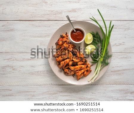 куриные · традиционный · индийской · продовольствие · обеда · азиатских - Сток-фото © neillangan