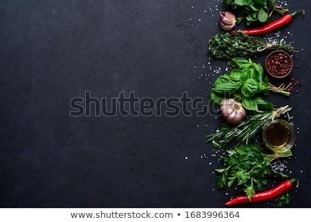 Fresh seasoning, garlic and thyme Stock photo © dariazu