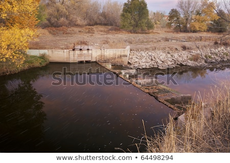 Diversion dam and irrigation ditch Stock photo © PixelsAway
