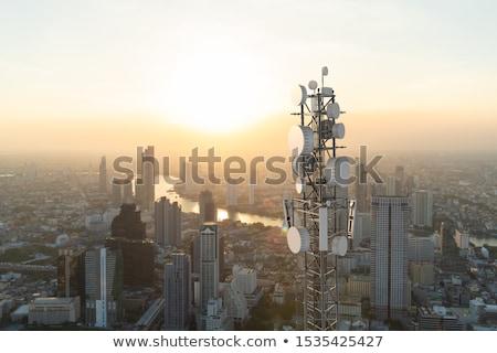 Kule şehir Barcelona cam fotoğrafçılık ofis binası Stok fotoğraf © imagedb