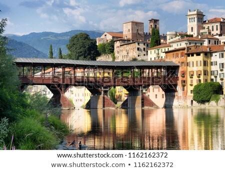 Old bridge in Bassano del grappa in Italy Stock photo © meinzahn