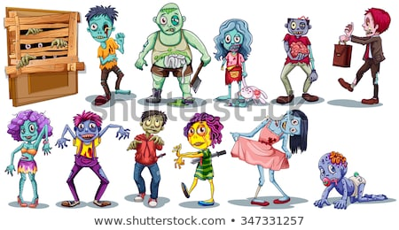 Cartoon zombi carácter 3d muerte cráneo Foto stock © kjpargeter