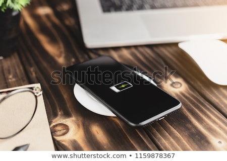 Stock photo: Smartphone on a wireless charge
