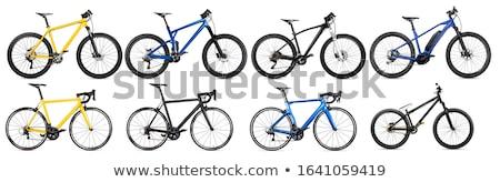 Bike set on white Stock photo © bluering