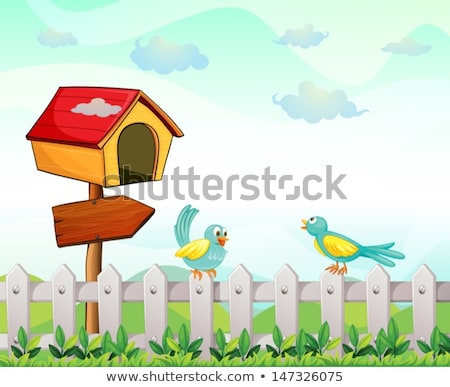A bird at the pethouse Stock photo © bluering