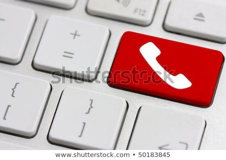 vermelho · contato · teclas · negócio · computador - foto stock © oakozhan
