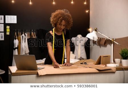 fiatal · divat · designer · munka · gyönyörű · nő · egyenes - stock fotó © milanmarkovic78