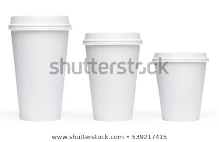 Witte papier beker geïsoleerd 3d illustration Stockfoto © cherezoff