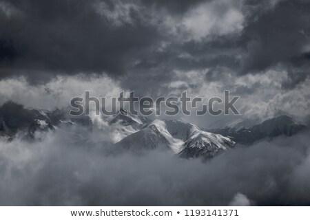 Füstös hó fedett tájkép éjszaka tél Stock fotó © wavebreak_media