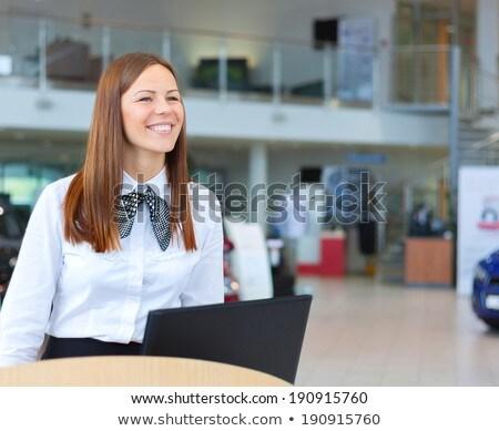 Portret kobiet recepcjonista działalności kobieta kolor Zdjęcia stock © IS2
