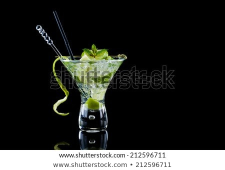 fresh lemon isolated over black stock photo © deandrobot