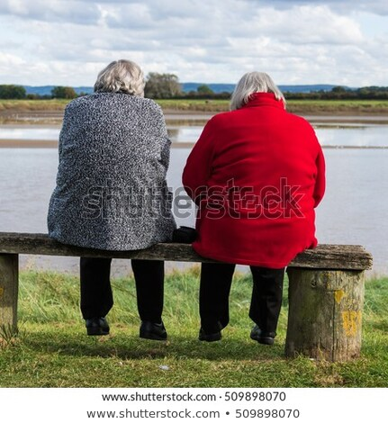 Friends sat on a abench Stock photo © IS2