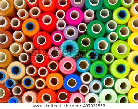 amarelo · fio · carretel · agulha - foto stock © oleksandro