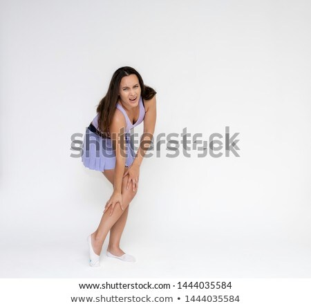 Güzel fitness woman koşucu omuz ağrısı genç eğitim Stok fotoğraf © boggy