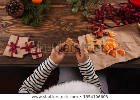 variëteit · christmas · cookies · beker · thee · voedsel - stockfoto © barbaraneveu