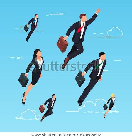 Man Hero, Superhero Businessman with Briefcase Stock photo © robuart