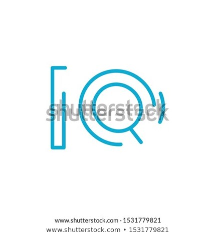 IQ Blue Letter Design. Vector typography. hope poster or card. Blue graphic element for typography s Stock photo © kyryloff