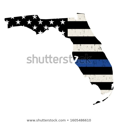 Florida policji wsparcia banderą ilustracja Zdjęcia stock © enterlinedesign