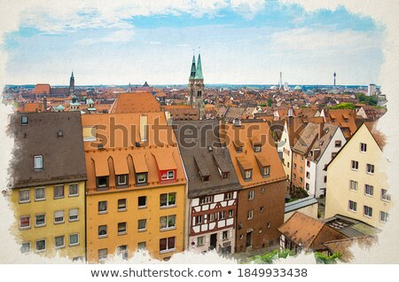 Nurnberg. Rooftops and cityscape of Nuremberg old town view Stock photo © xbrchx
