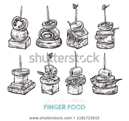 Toast ser warzyw oliwy Stick smaczny Zdjęcia stock © olira