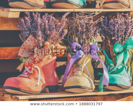 shoes, soap and aroma bouquet Stock photo © olira