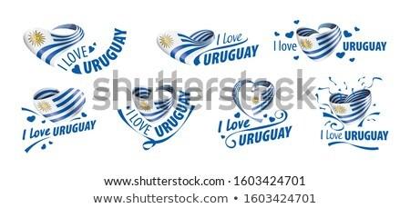 флаг Уругвай любви солнце сердце Сток-фото © butenkow