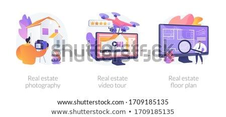 Home abstract bedrijf verkoop appelleren Stockfoto © RAStudio