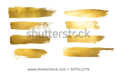 Golden paint smear Stock photo © goir