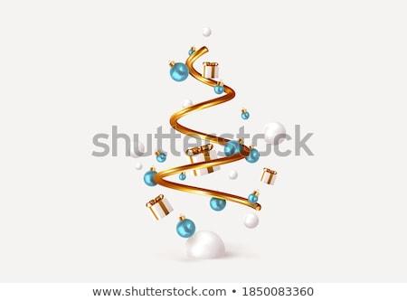 albero · di · natale · legno · neve · oro · carta · magia - foto d'archivio © pressmaster