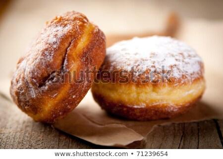 casal · tabela · café · da · manhã · sobremesa · comer - foto stock © massonforstock