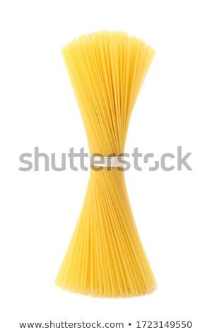 Bunch of spaghetti with color fusilli  Stock photo © zhekos